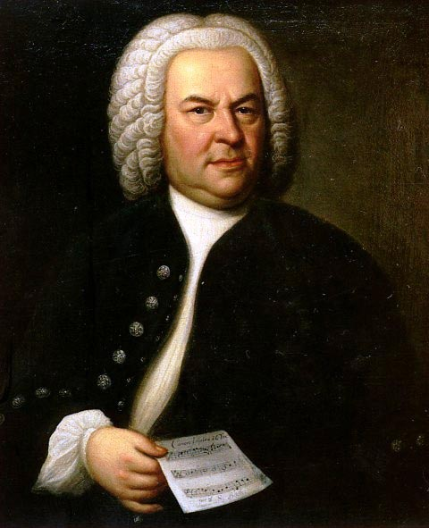 A copy (1748) of E G Haussamn's 1746 portrait of J S Bach, age 61