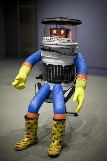 HitchBOT relaxing